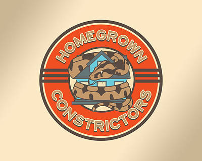 Boa Constrictor Digital Art - Homegrown Constrictors Logo by Donovan Winterberg