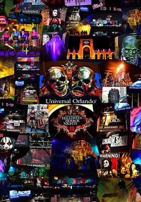 Monster Digital Art - Hhn 26 Remembering The Horror Poster B by David Lee Thompson