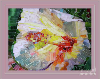 Mosaic Mixed Media - Hibiscus #3 by Adriana Zoon