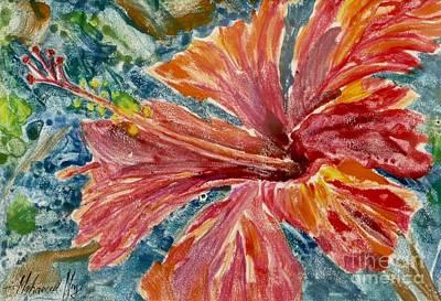 Hibiscus Print by Mohamed Hirji