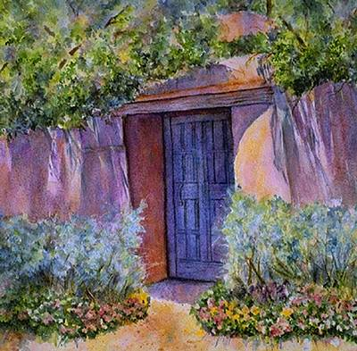 Southwest Gate Painting - Hidden Assets by Ann Peck