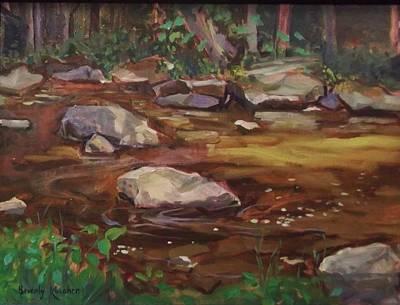 Glade Creek Painting - Hidden Brook by Beverly Klucher