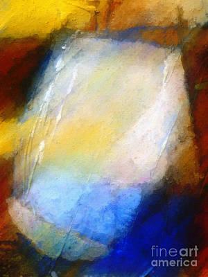 Colorfields Painting - Hidden Light by Lutz Baar