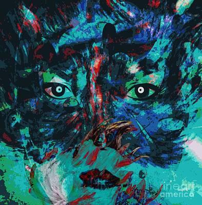 Yesayah Painting - Hidding - The Psychology Of Art by Fania Simon