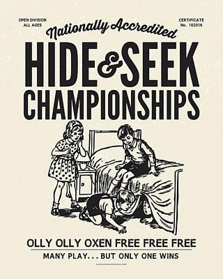 Digital Art - Hide And Seek Poster by Mark Kingsley Brown