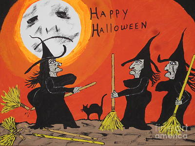 Hide The Halloween Candy Print by Jeffrey Koss