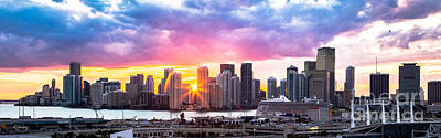 Hiding The Light Panoramic Miami Print by Rene Triay Photography