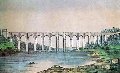 High Bridge, New York, 19th Century Print by Photo Researchers