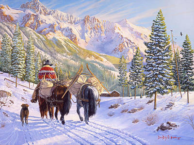 Snow Scene Painting - High Country by Howard Dubois