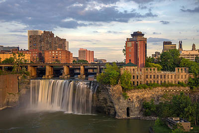 Fall Photograph - High Falls District Rochester by Mark Papke