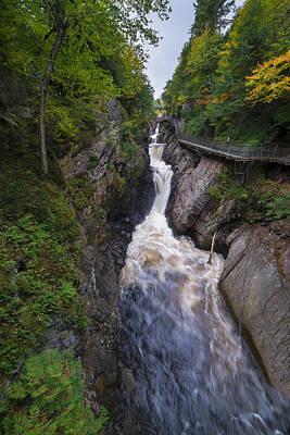 Ladnscape Photograph - High Falls Gorge Adirondacks by Mark Papke