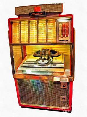 Jukebox Painting - High Fidelity by Edward Fielding