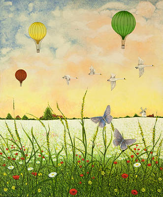 Hot Air Painting - High Flyers by Pat Scott