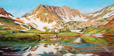 Backpacking Painting - High In The Rockies by Mary Giacomini