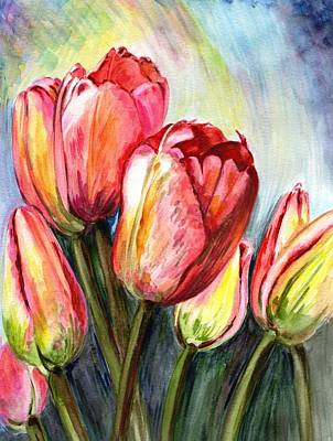Flowers Painting - High In The Sky by Harsh Malik