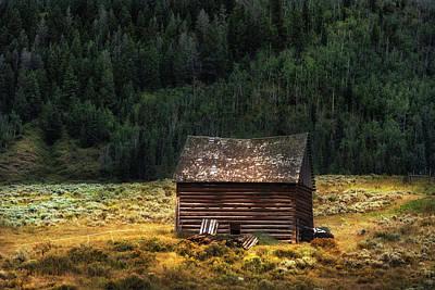 Log Cabin Art Photograph - High Lonesome - Www.thomasschoeller.photography by Thomas Schoeller