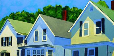 Neighborhood Painting - High Noon by Laurie Breton