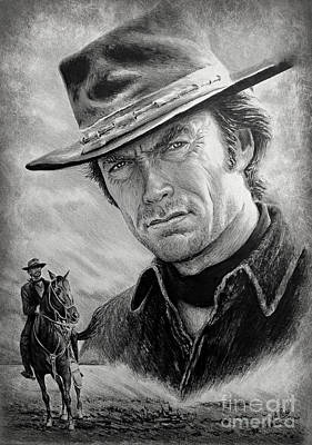 Wild Horse Drawing - High Plains Drifter by Andrew Read