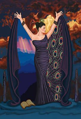 Womens Painting - High Priestess by Pamela Wells