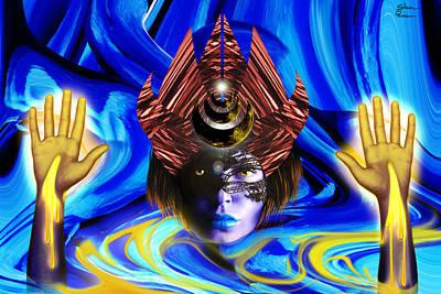 Goddess Digital Art Mixed Media - High Priestess  by Shawn Powers