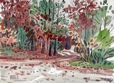 Foliage Painting - High Ridge Drive by Donald Maier