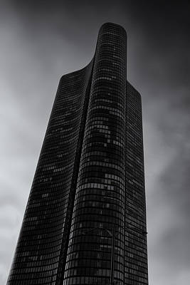 Vertical Photograph - High Rise Against Thee Clouds by Andrew Soundarajan