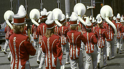 Framed Photograph - High School Marching Band by Art America Online Gallery