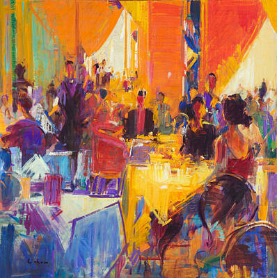 Blue Table Painting - High Society by Peter Graham