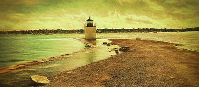 Lighthouse Photograph - High Tide At Derby Lighthouse by Jeff Folger