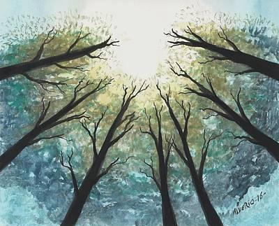 High Trees Print by Edwin Alverio