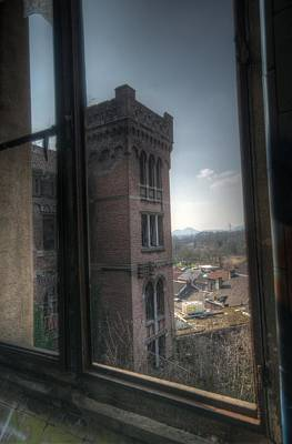 Building Factory Work Vintage Digital Art - High Window by Nathan Wright