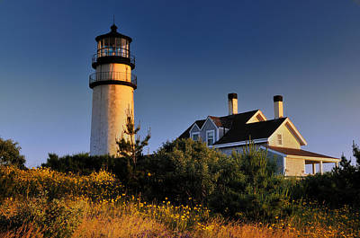 Cape Cod Mass Photograph - Highland Beacon From The Bluffs by Thomas Schoeller
