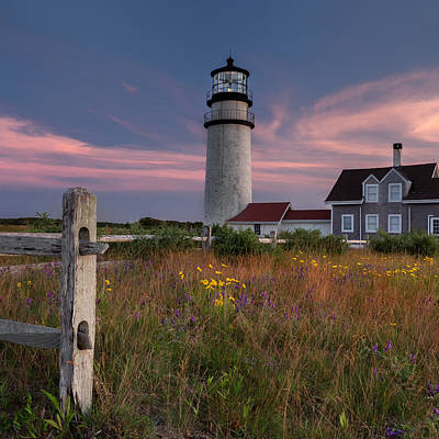 Lighthouse Photograph - Highland Light 2015 Square by Bill Wakeley