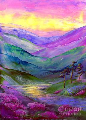 Mountain Valley Painting - Highland Light by Jane Small