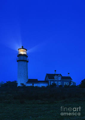 Highland Lighthouse Night Print by John Greim