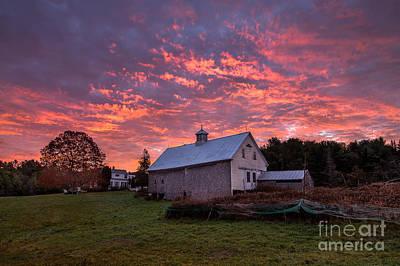 Weathervane Photograph - Highland Road Barn At Sunrise by Benjamin Williamson