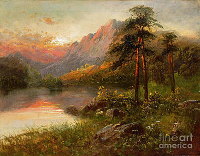 Loch Painting - Highland Solitude by Frank Hider