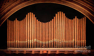 University Of Michigan Digital Art - Hill Auditorium University Of Michigan Organpipes by Rebecca Snyder