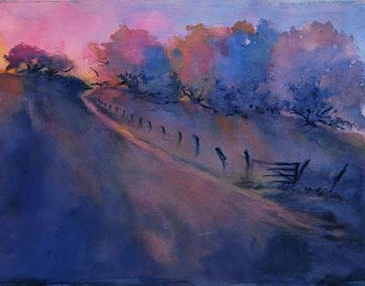 Texas Hill Country Painting - Hill Country Last Light by Virgil Carter