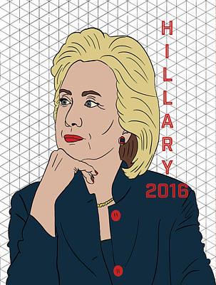 Hillary Clinton 2016 Print by Nicole Wilson