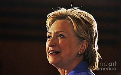 Hillary Clinton Photograph - Hillary Clinton by Kelly Sullivan