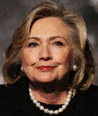 Hillary Clinton Painting - Hillary Clinton Portrait by Samuel Majcen