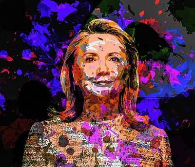 Hillary Clinton Mixed Media - Hillary Clinton by Svelby Art