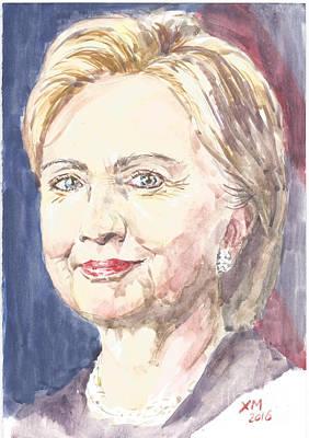 Hillary Clinton Painting - Hillary Clinton by Xian Mao