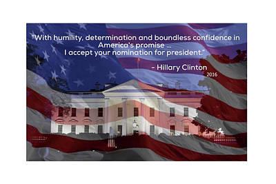 Hillary Clinton Photograph - Hillary Clinton's Acceptance Speech by J Pearson Photos