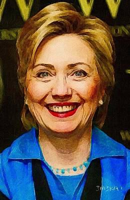 Hillary Clinton Painting - Hillary by Emeka Okoro