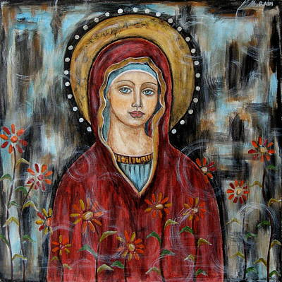 Christian Art . Devotional Art Painting - Hillary by Rain Ririn