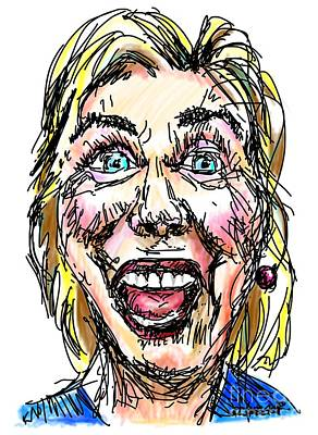 Hillary Clinton Drawing - Hillary by Robert Yaeger