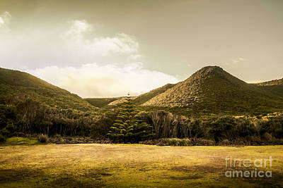 Pasture Scenes Photograph - Hills And Fields Of Trial Harbour by Jorgo Photography - Wall Art Gallery