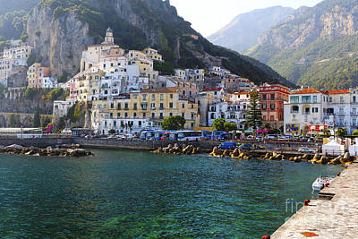 Hills Of Amalfi Print by George Oze